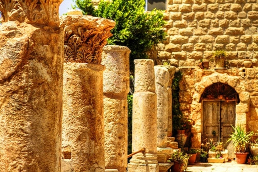 Pillars in Madaba